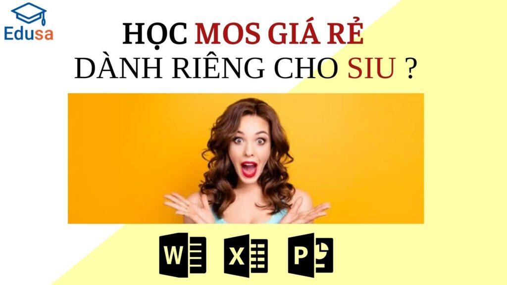 Học Mos giá rẻ dành cho sinh viên trường đại học quốc tế Sài Gòn