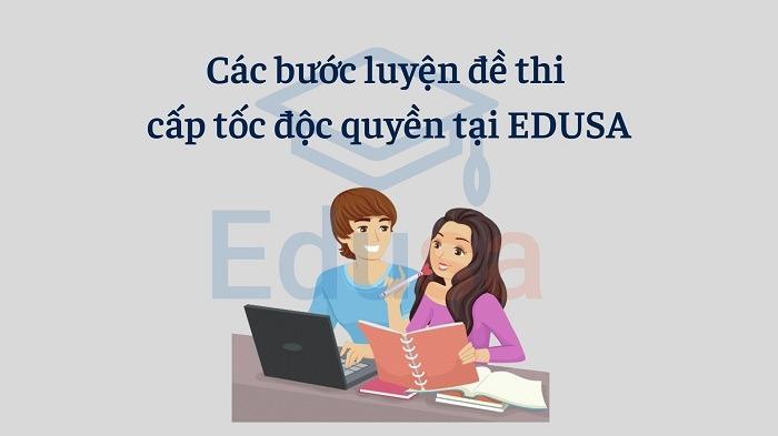 Các bước luyện đề thi TOEIC cấp tốc độc quyền tại EDUSA